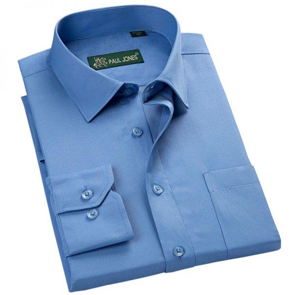 Business Men's Shirts Long Sleeve Turn Down Collar