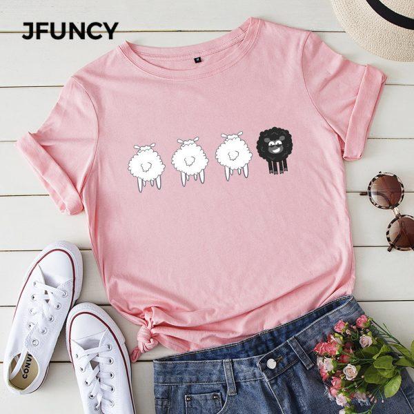 Cartoon Sheep Printed Tshirt