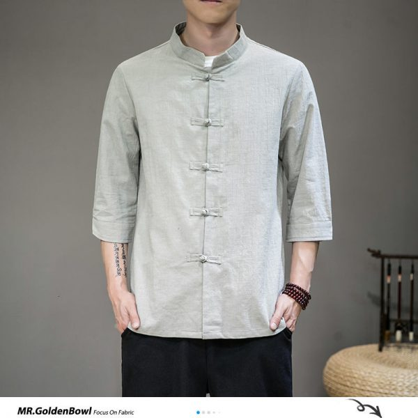 Casual Cotton Linen Blouse