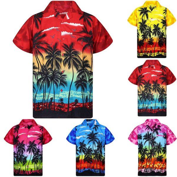 Casual Hawaii Print Beach Shirt