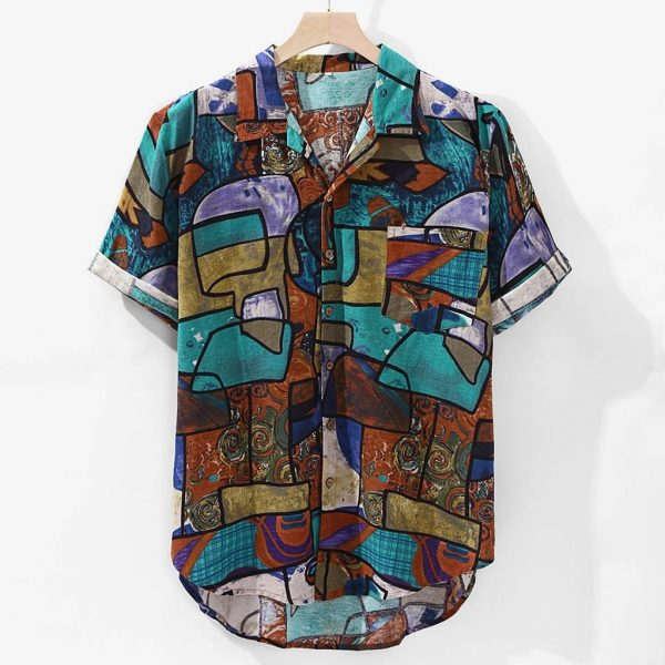 Casual Print Beach Hawaiian Shirt