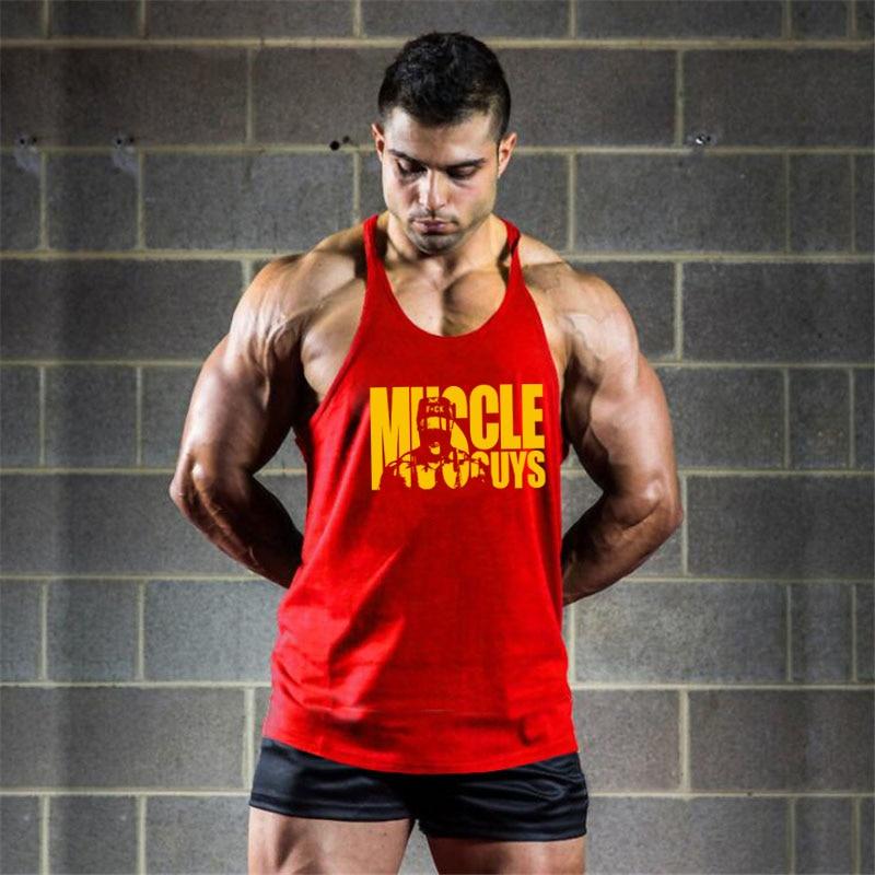 Cotton Gyms Tank Tops Men Sleeveless Vest