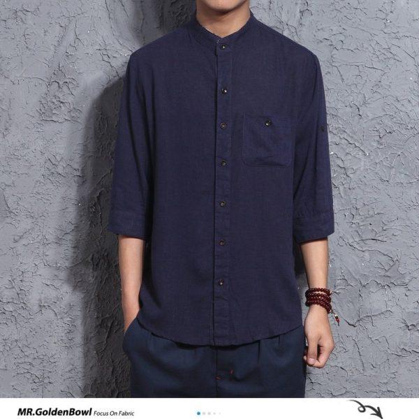 Cotton Linen Men's Shirts