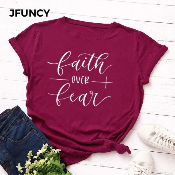 Cotton T Shirt Letter Printed