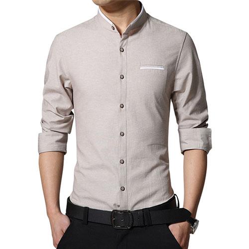 Fashion Casual Men Shirt Long Sleeve Shirts