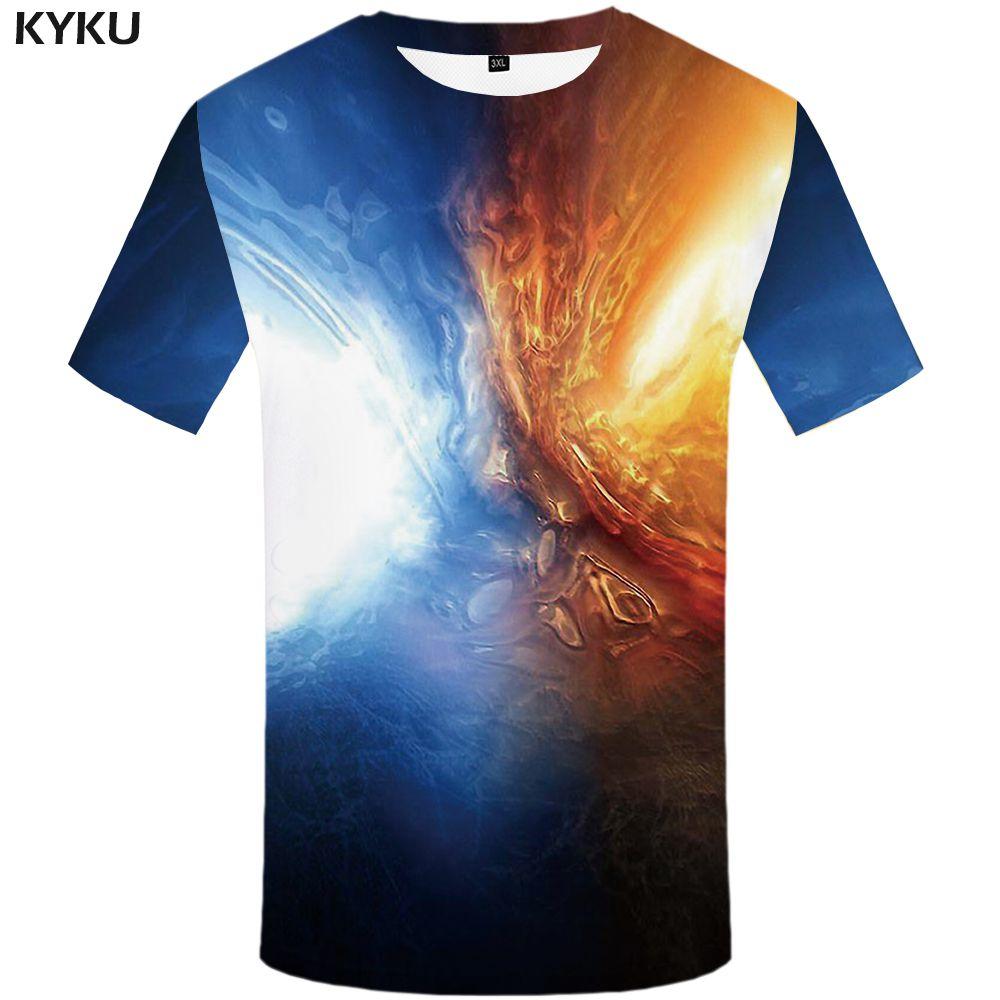 Flame T-shirt Men Music T-shirts 3d Guitar Tshirts