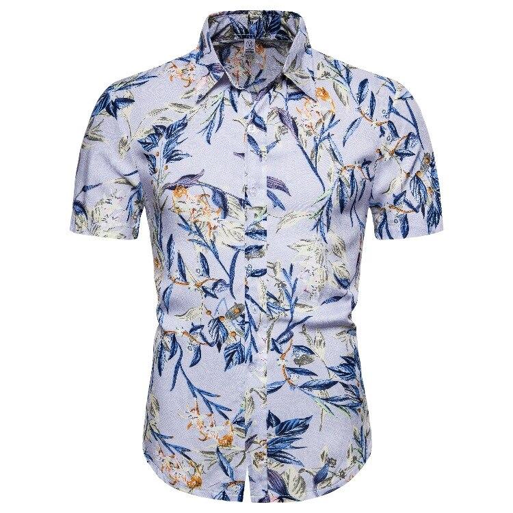 Flower Shirt Cotton Hawaiian Shirts