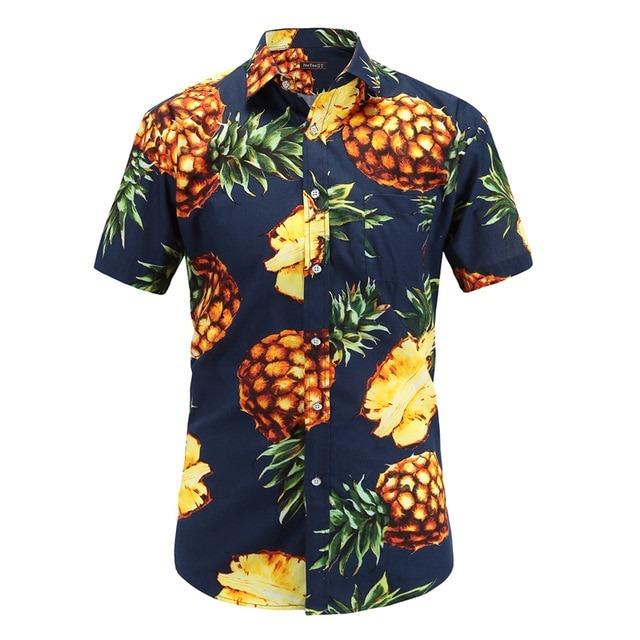 Hawaiian Shirts Cotton Casual Floral Shirt