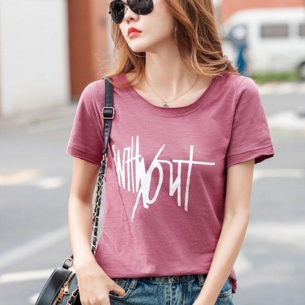 Letter Print Women T-shirts