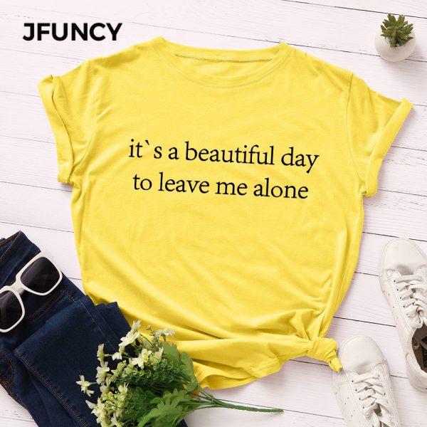 Letter Printed Woman Tshirt