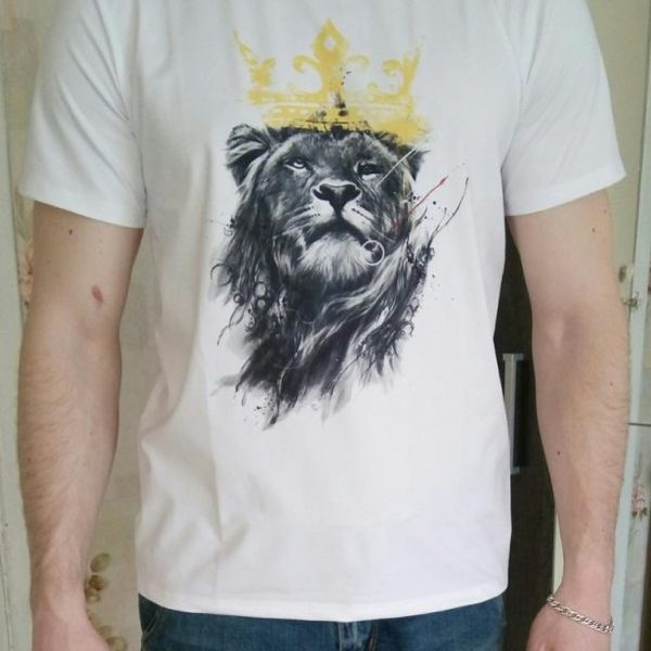 Lion Printed T-shirt Funny Tee Shirts Hipster