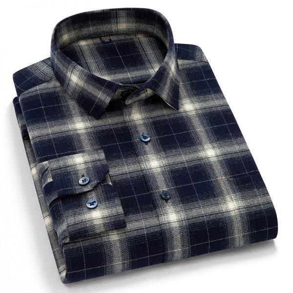 Long Sleeve Checkered Shirts