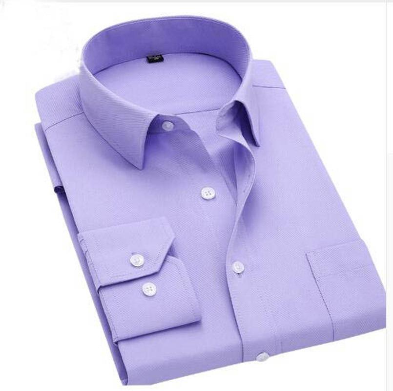 Long Sleeve Shirts Slim Fit Men Dress Shirt