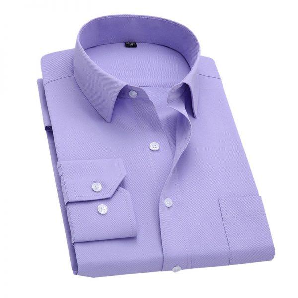 Long Sleeve Slim Men Dress Shirt