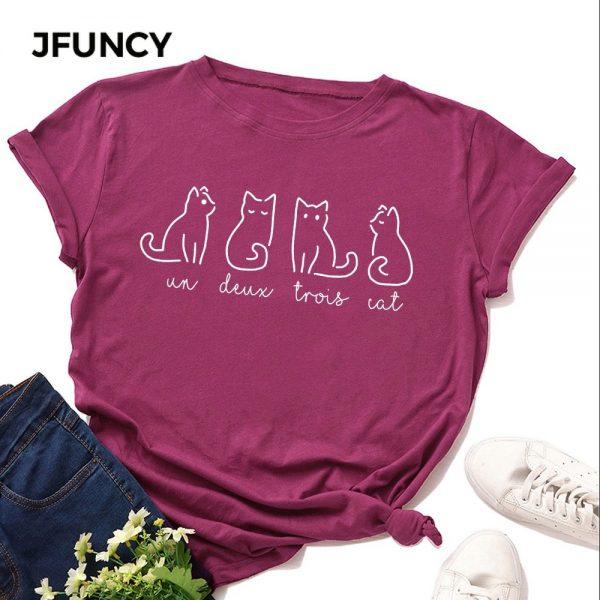 Lovely Cat Printed Tshirt
