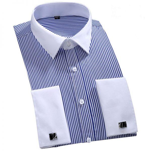 Men French Cufflinks Shirt Men's Shirt