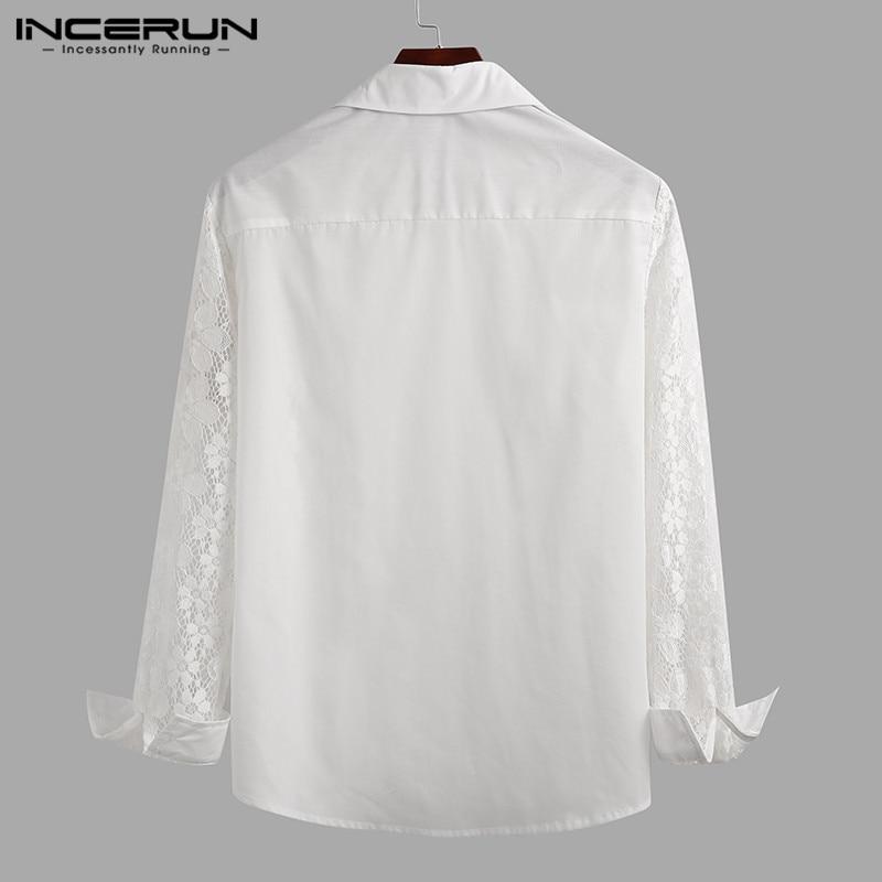 Men Sexy Lace Shirt