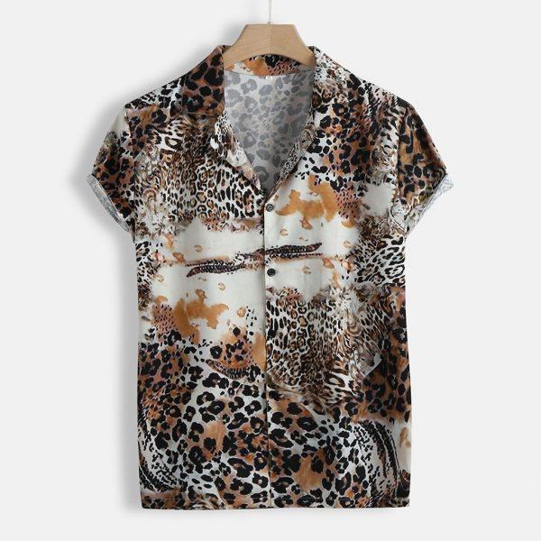 Men Shirt Casual Short Sleeve Shirts