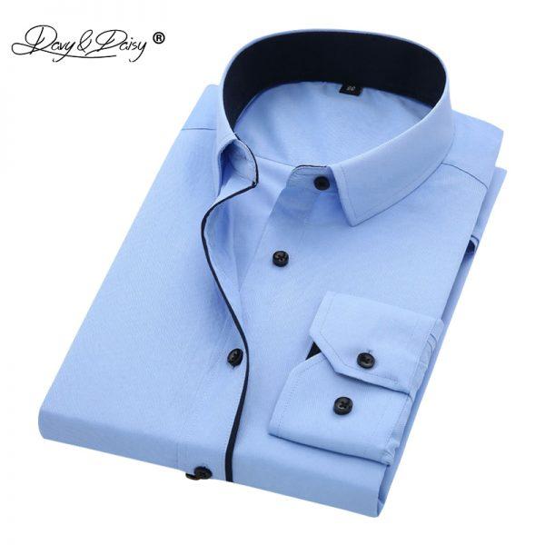 Men Shirt Long Sleeve Formal Business Shirt