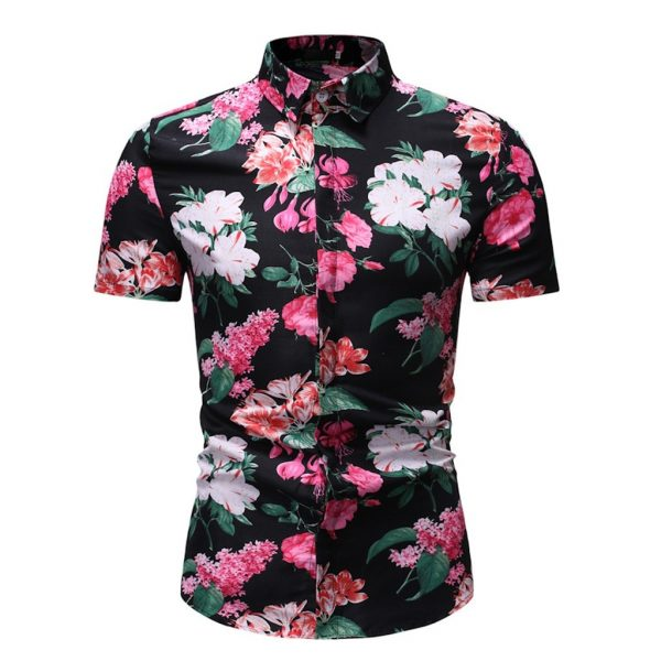 Men Shirts Fashion Short Sleeve Shirt