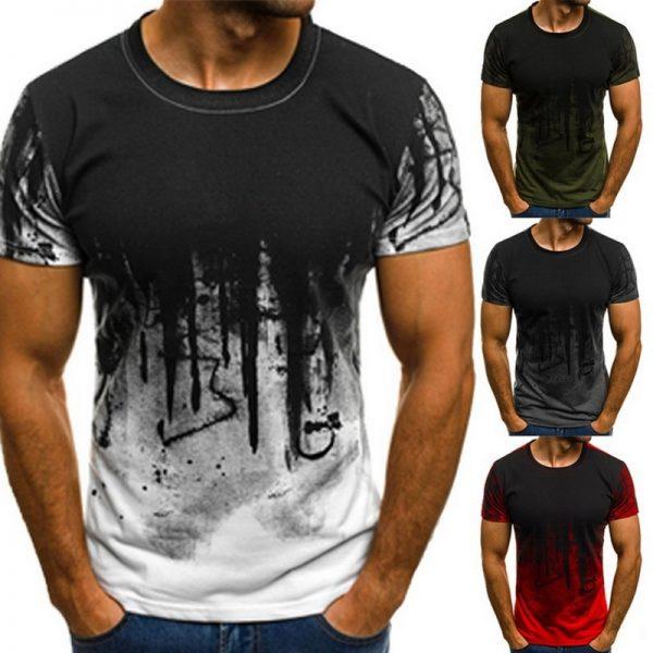 Men Spring T Shirt Long Sleeve Loose Tops Tees