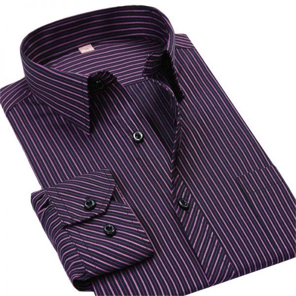 Men's Business Shirts Casual Long Sleeved Shirt