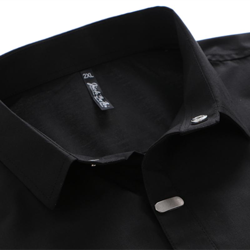 Men's Shirts British Style Business Slim Fit Shirt