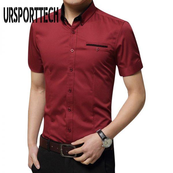 Mens Shirts Collar Tuxedo Shirt
