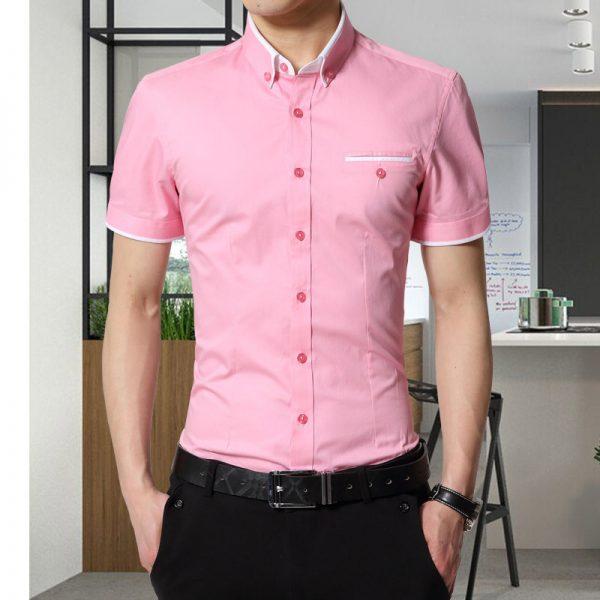 Men's Summer Business Shirt Short Sleeves Shirts