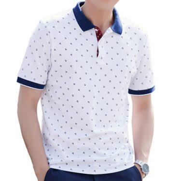 Polo Shirts Men Summer Cotton Printed Shirts