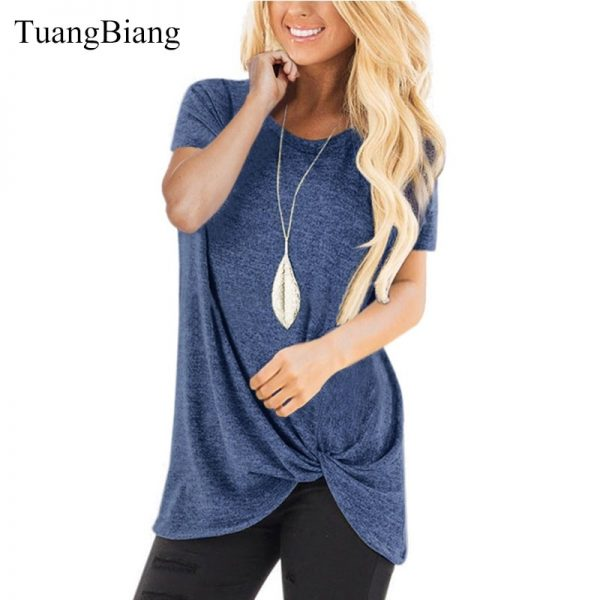 Round Neck Pleated T Shirts