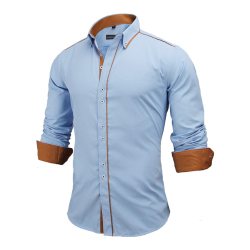 Slim Business Shirt Casual Brand Clothing