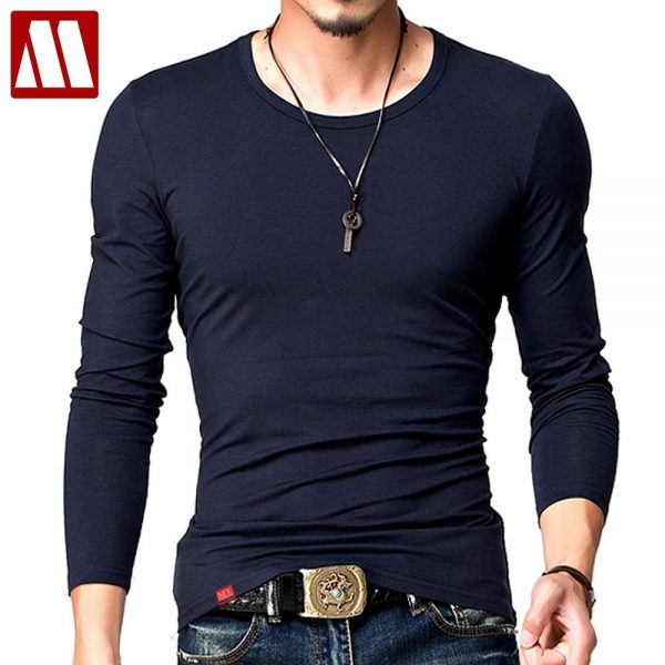 Slim Fit Long Sleeve T Shirt Casual Men T-Shirt