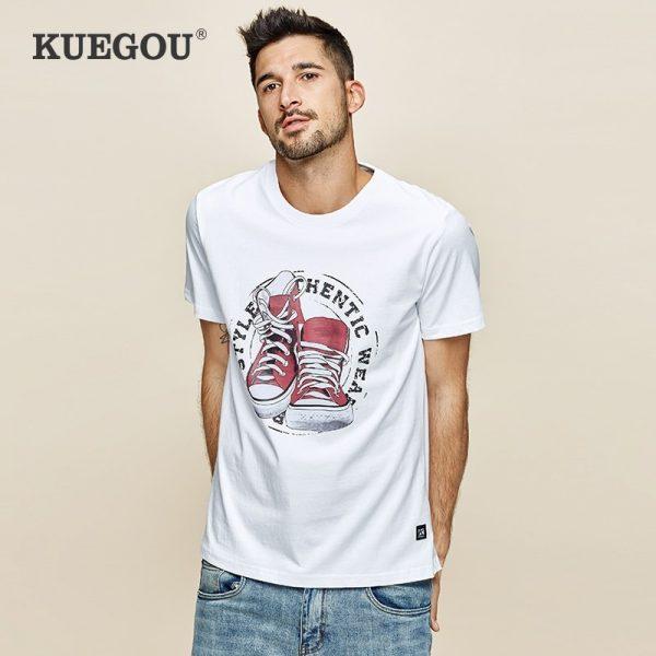 Summer 100% Cotton Print Men Tshirt