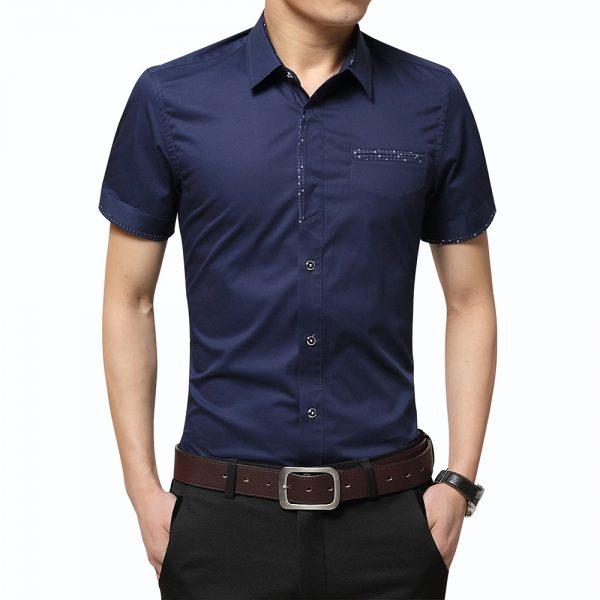 Summer Men's Shirt Turn-down Collar Cardigan Shirt