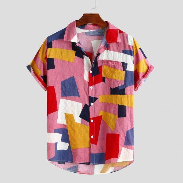 Summer Mens Shirts Hawaiian Shirt