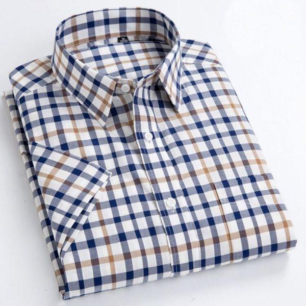 Summer Short Sleeve Plaid Shirts