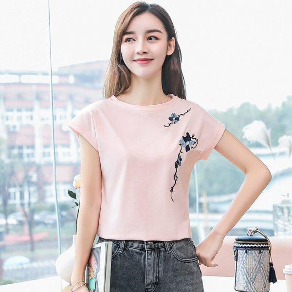 Women Summer Cotton T shirts