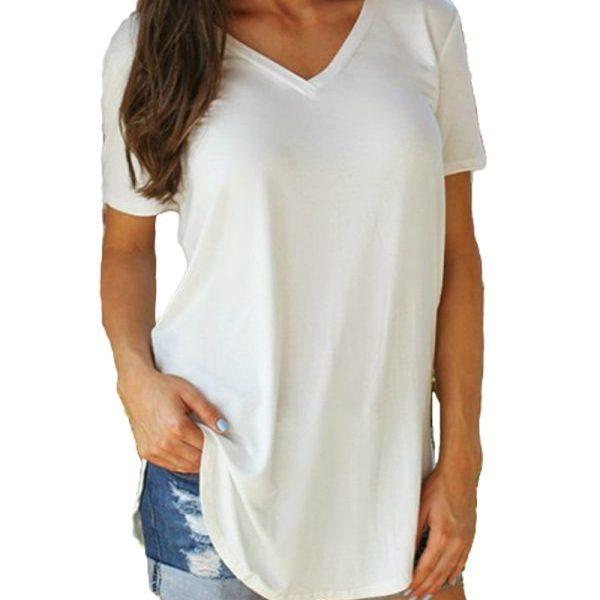 Women Tops Casual T Shirt Long Tshirt Oversize