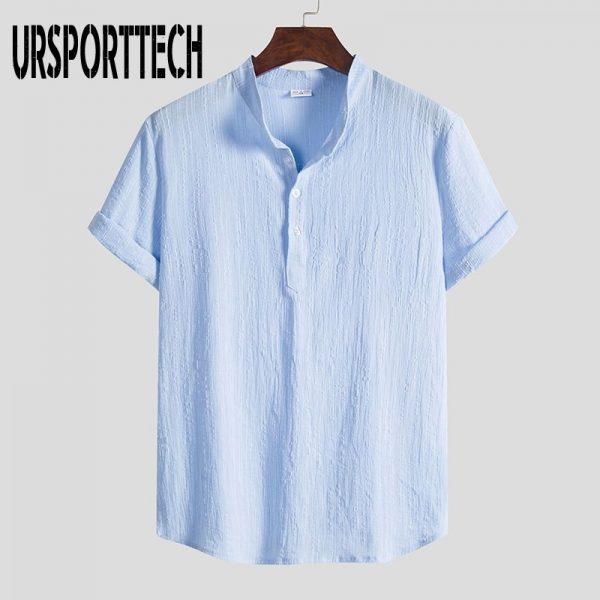 Cotton Linen Loose Beach Shirt