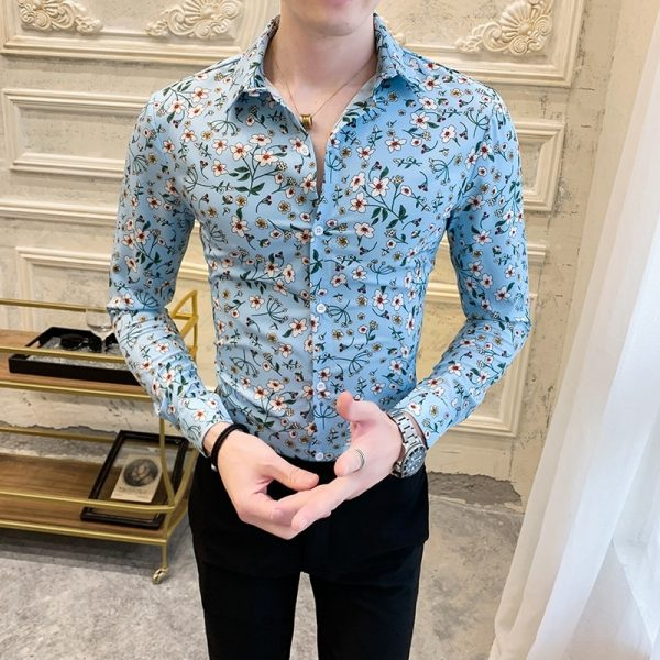 Fashion Floral Shirt Casual Streetwear5