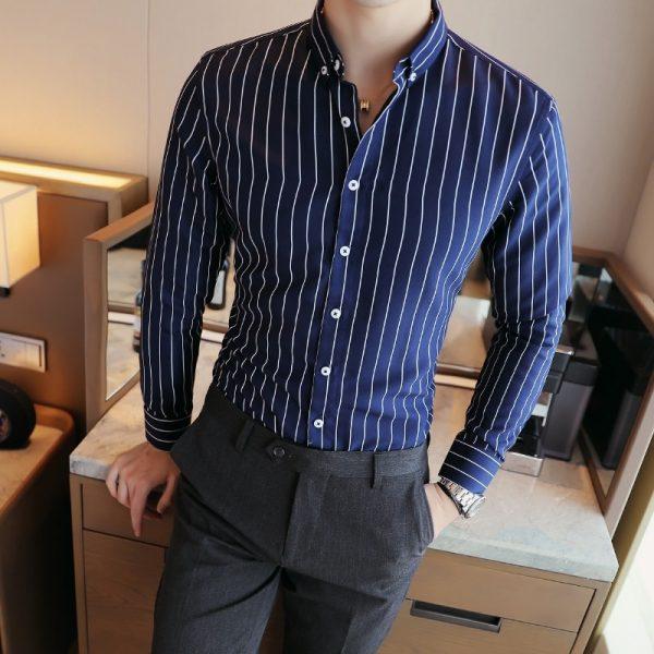Fashion Striped Shirts Formal Wear