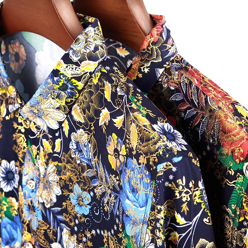 Hawaiian Style Fashion Silk Shirts