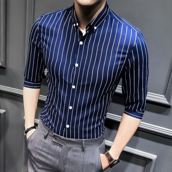 Korean Slim Half Sleeve Shirt