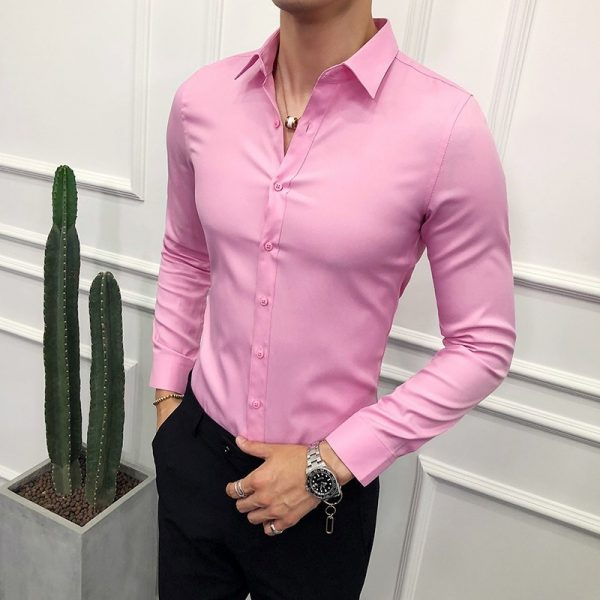 Social Solid Formal Business Shirt