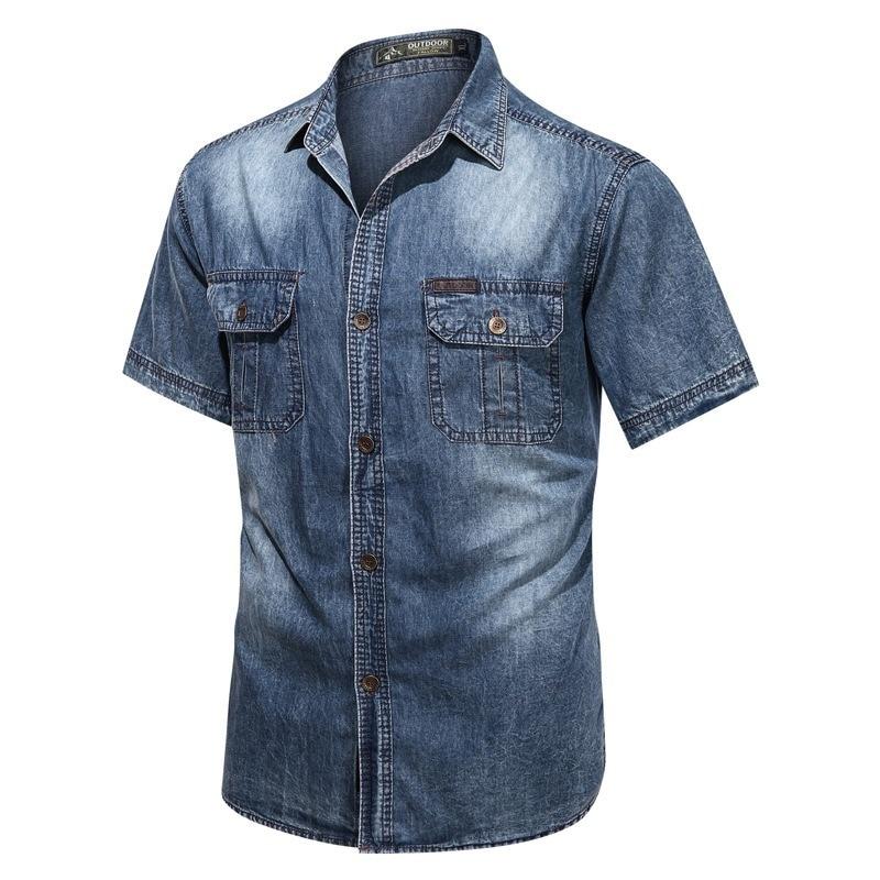 Summer Cotton Casual Denim Shirt