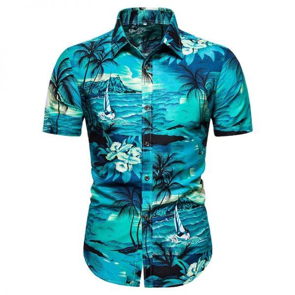 Summer Hawaiian Loose Printed Shirt
