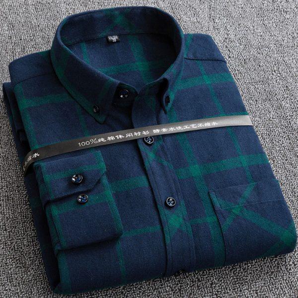100% Cotton Flannel Plaid Shirt