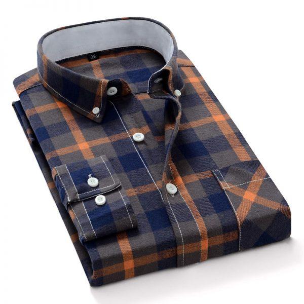 100% Cotton Long Sleeve Plaid Shirts