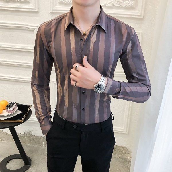 British Style Business Striped Shirts